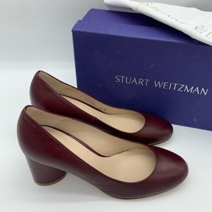 NEW Stuart Weitzman Azalea wine red leather pumps